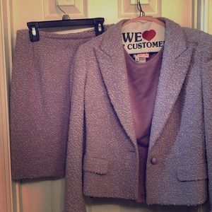 Valentino Lavender Skirt suit w knit top